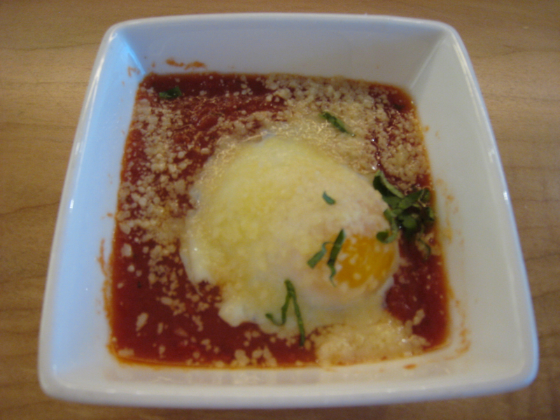Poached Eggs with Tomato Sauce, AMEX Centurion Lounge