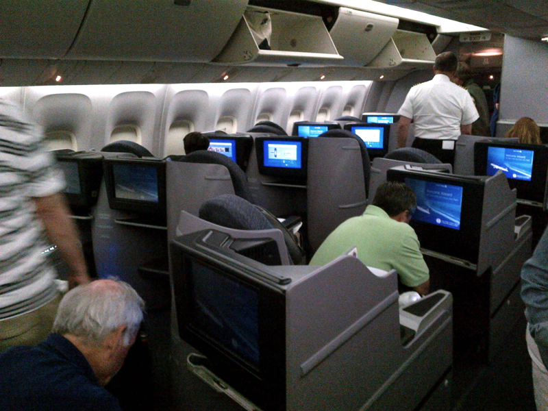 our seats  5K and 5L  Here s a photo of the United first class cabinUnited Airlines First Class 767