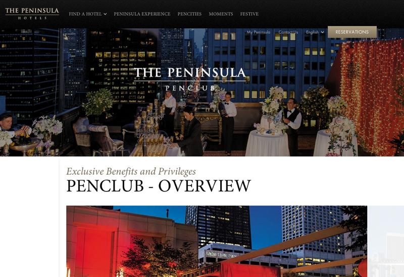 PenClub Peninsula Hotels Preferred Partner Benefits