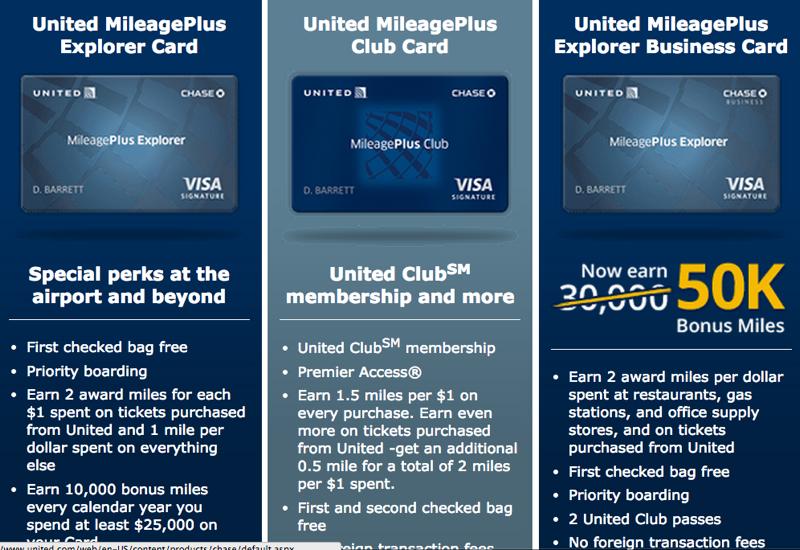 50K United MileagePlus Explorer Business Card Bonus fer