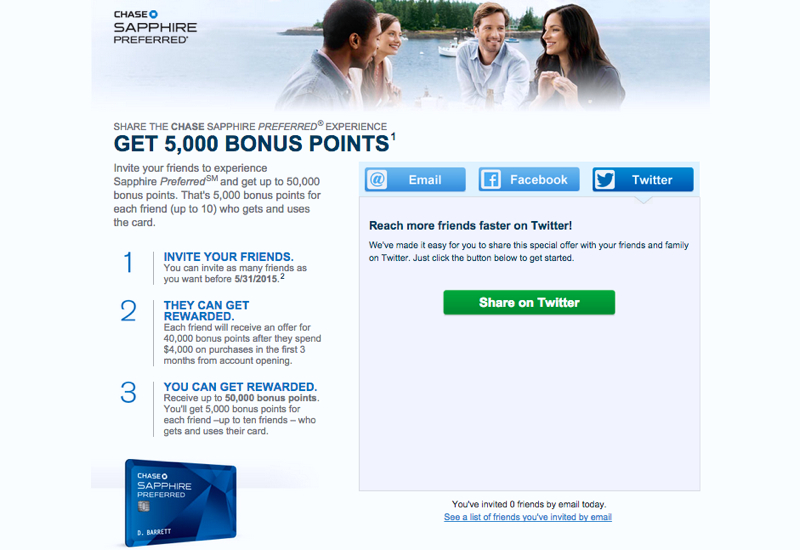 Chase Refer a Friend up to 50K Bonus Points