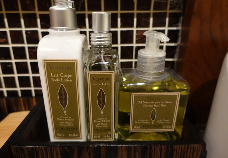 Thai Royal Orchid Spa Review - L'Occitane Moisturizer and Eau de Toilette