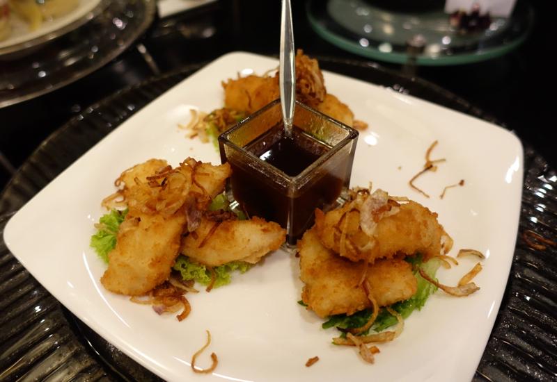 Thai Royal First Lounge Bangkok Food-Coconut Fried Fish