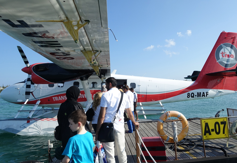 Four Seasons Maldives at Landaa Giraavaru Review - Boarding Our Seaplane