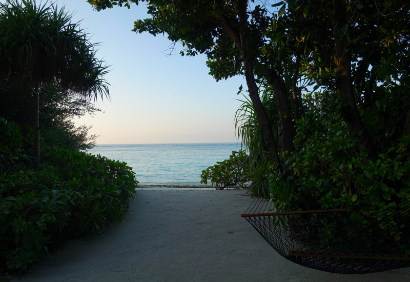 Four Seasons Maldives at Landaa Giraavaru Review - Beach Bungalow Hammock and Beach Access