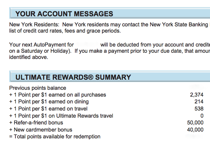 Go to Statement to See Your Signup Bonus and Refer a Friend Bonus