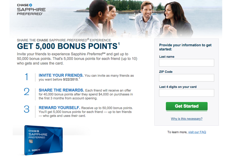 Chase Refer a Friend 2015: Earn Up to 50K Bonus Ultimate Rewards Points