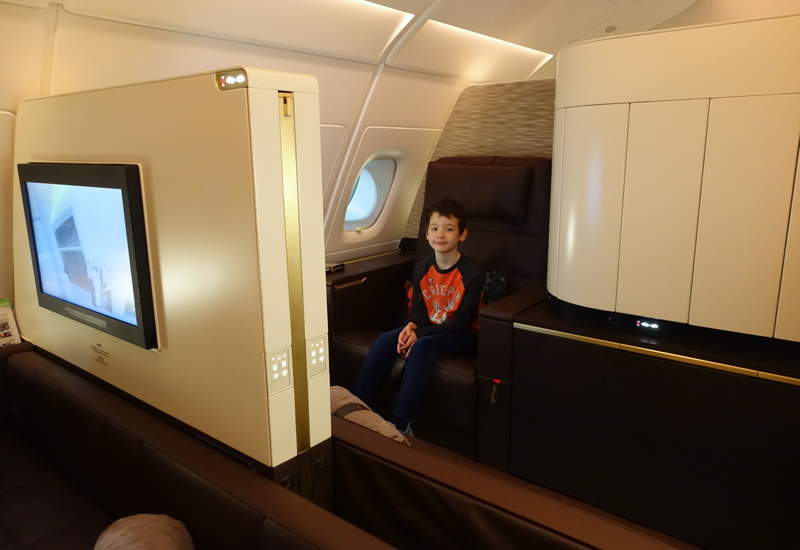 Kids Review Etihad First Class Apartment A380