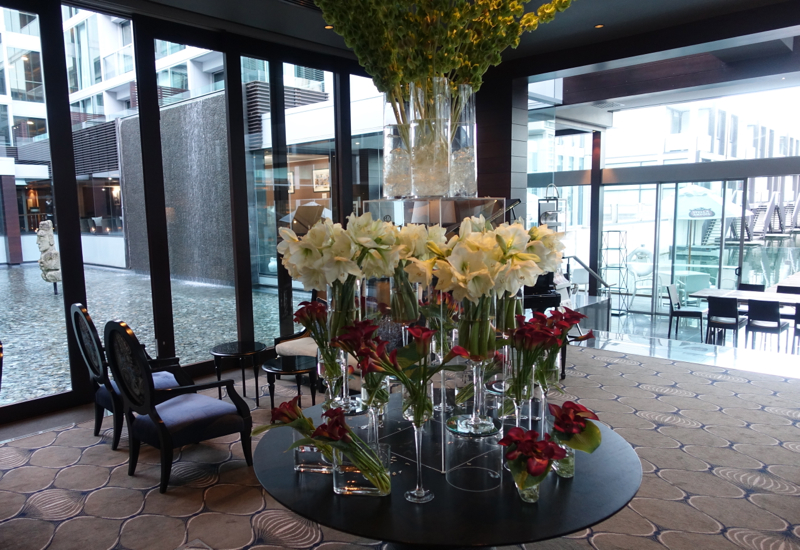 Lobby Flowers, Sofitel Auckland Review