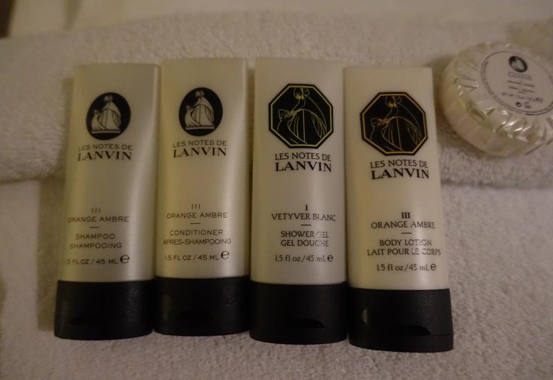 Les Notes de Lanvin Bath Products, Sofitel Auckland Review