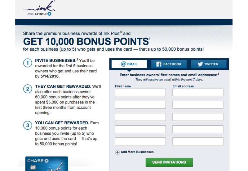 Chase Refer a Friend 2016: Earn Up to 50K Bonus Ultimate Rewards Points