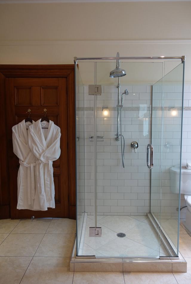 Glass Enclosed Shower, Clark Suite, Otahuna Lodge Review