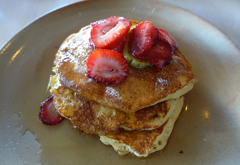 We weren't disappointed by the Ricotta Hotcakes with Maple-Marinated ...