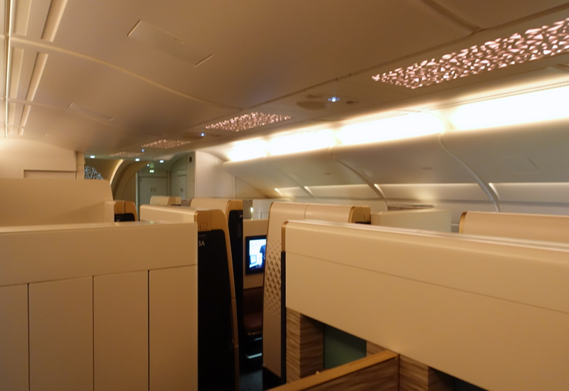 Etihad airbus a380 first class london to abu dhabi the for Etihad apartment plans
