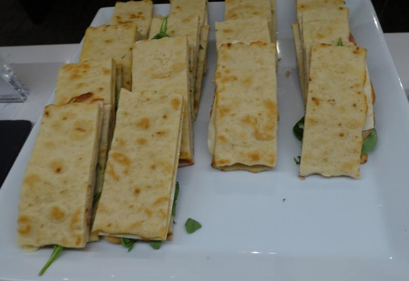 Smoked Turkey Flatbread Sandwiches, AMEX Centurion Studio Seattle Review