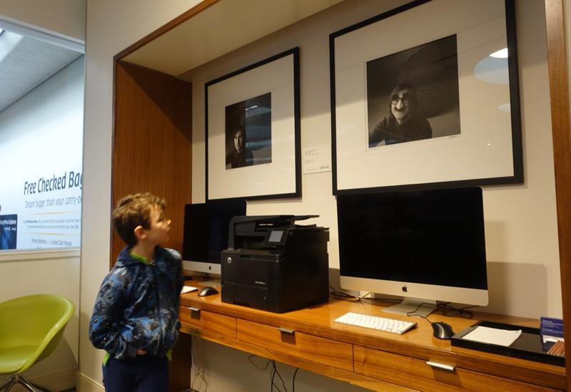 AMEX Centurion Lounge San Francisco Review - Business Center