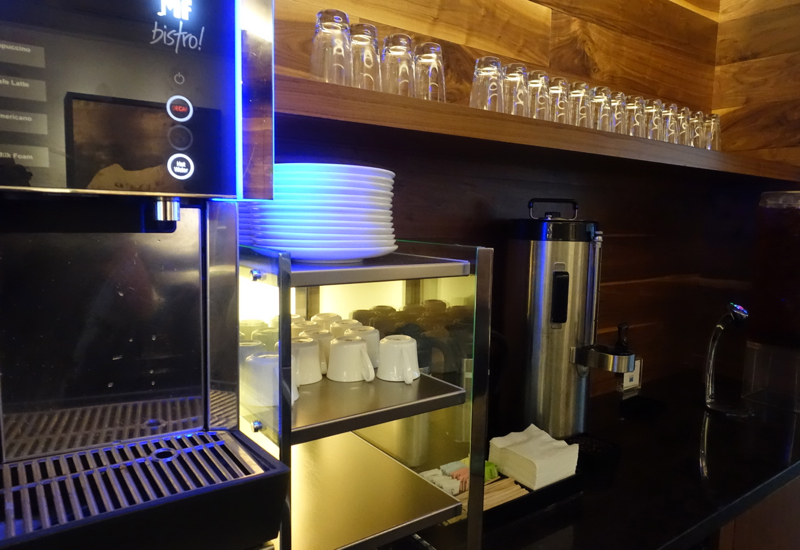Espresso Machine and Brewed Coffee, AMEX Centurion Lounge San Francisco Review