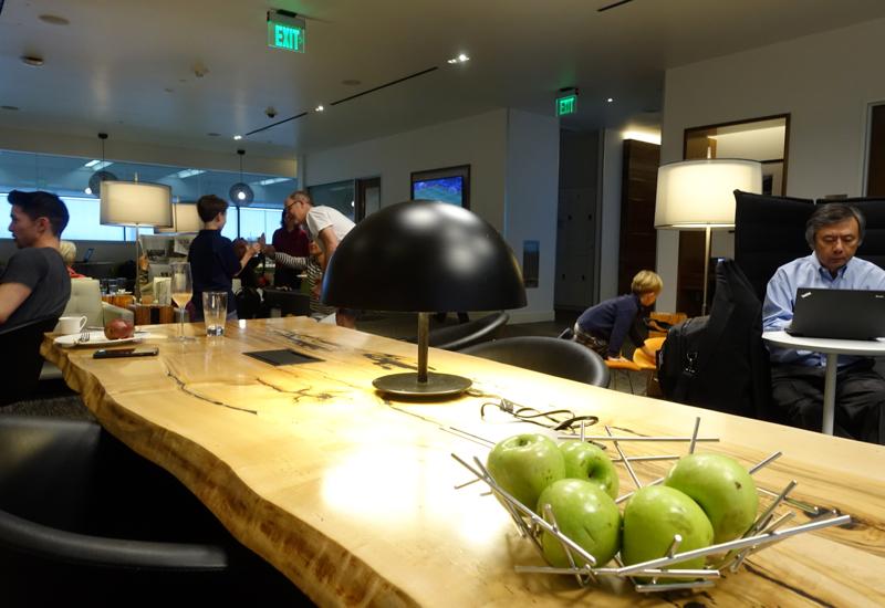 AMEX Centurion Lounge San Francisco SFO Review-Communal Table