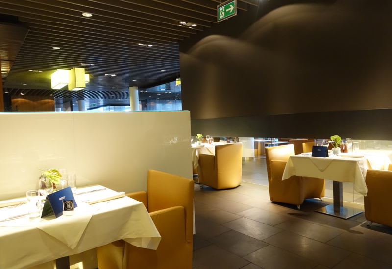 Dining Area Seating, Lufthansa First Class Terminal Review