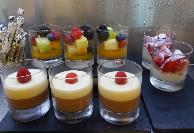 Desserts, Lufthansa First Class Terminal Review