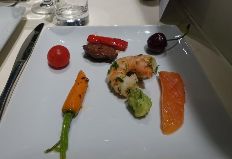 Dining at Lufthansa First Class Terminal, Frankfurt