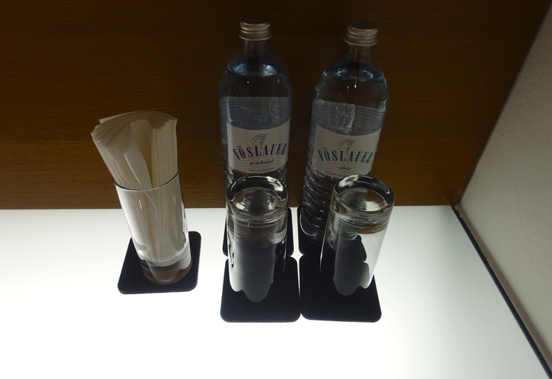 Bottled Water, Nap Room, Lufthansa First Class Terminal Review
