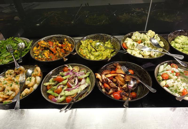 Salads, Lufthansa First Class Terminal Review