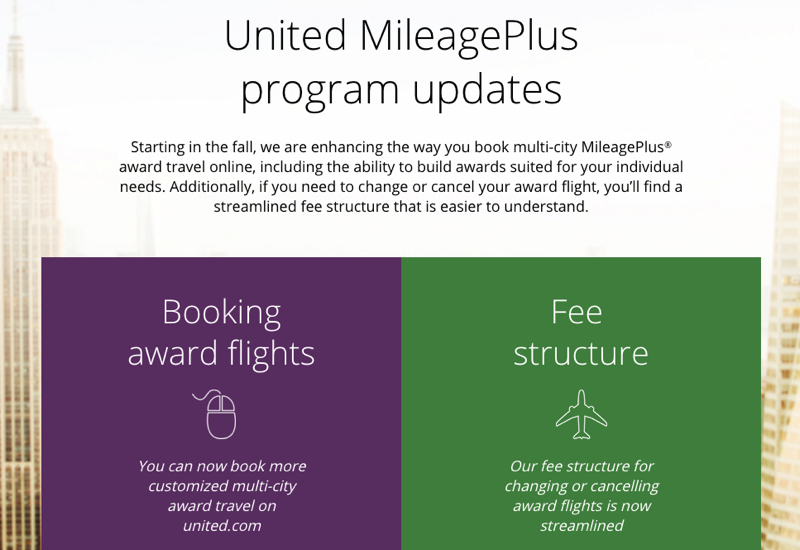 MileagePlus Award Changes: Increased Change Fee, Stopover Changes