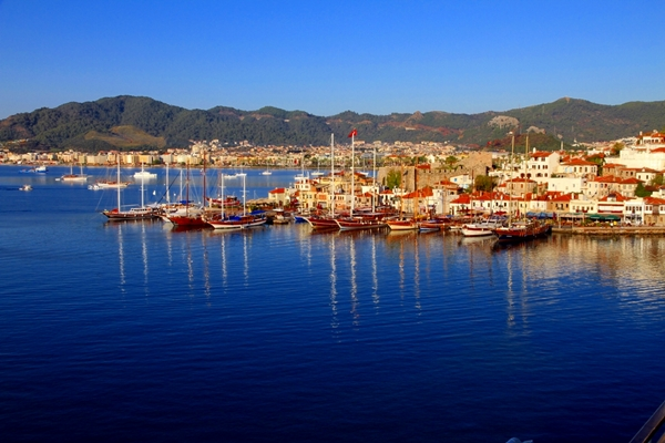 Mosques in Turkey Marmaris Port of Marmaris Turkey