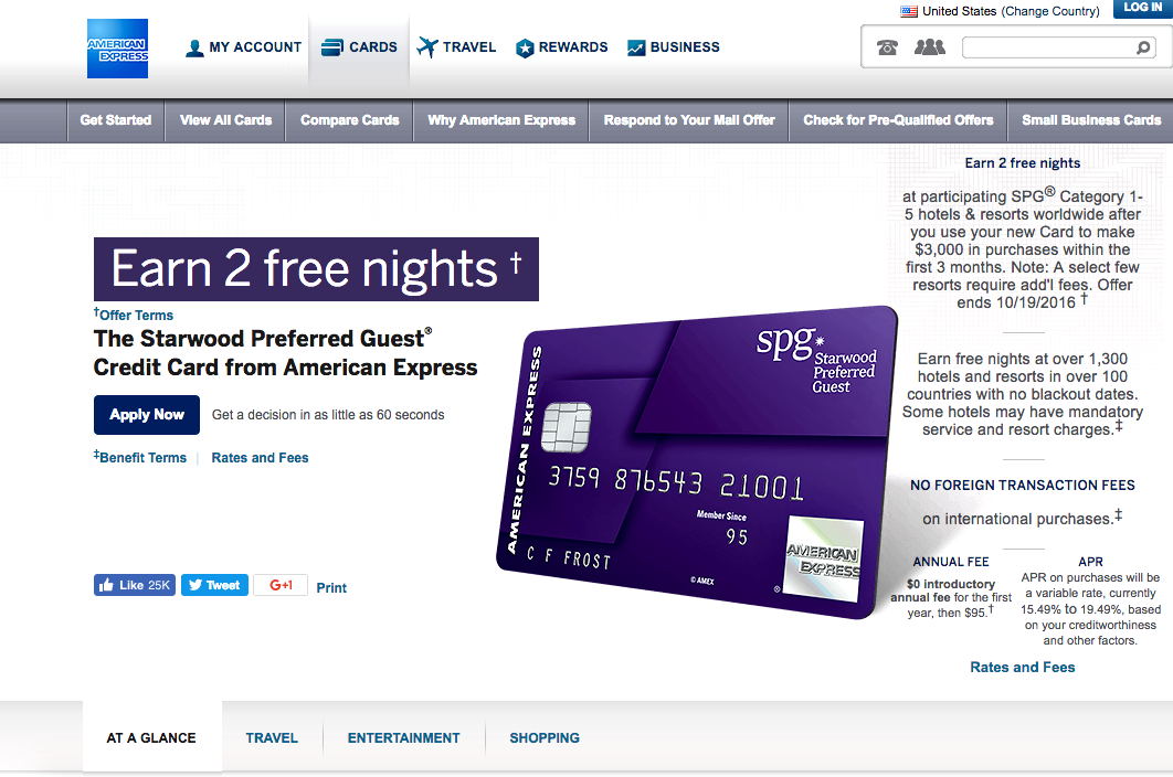 SPG AMEX with 2 Free Nights at Category 1-5 Hotels: Not Worth It