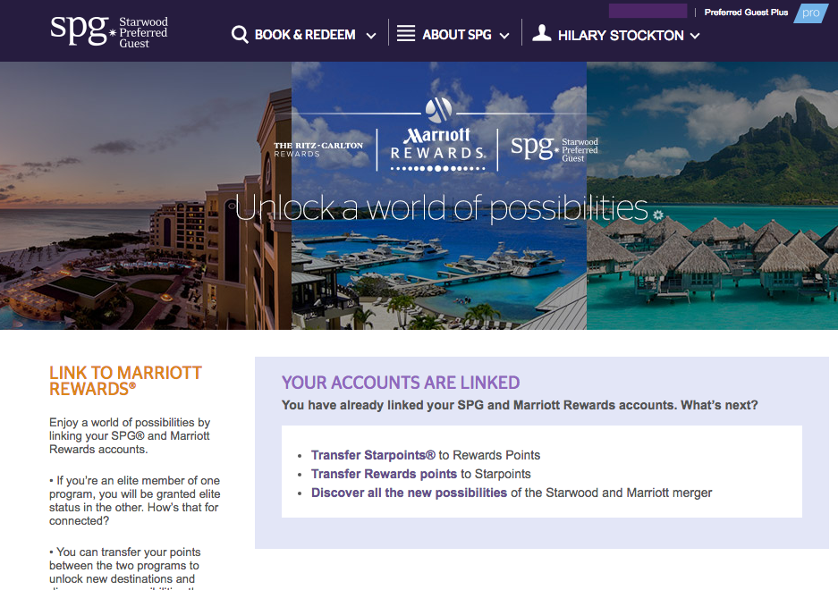 Link Your SPG and Marriott Accounts, How to Transfer Points and FAQ