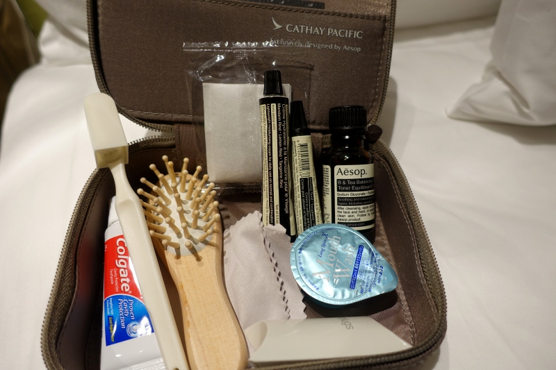 Aesops Amenity Kit, Cathay Pacific First Class Review
