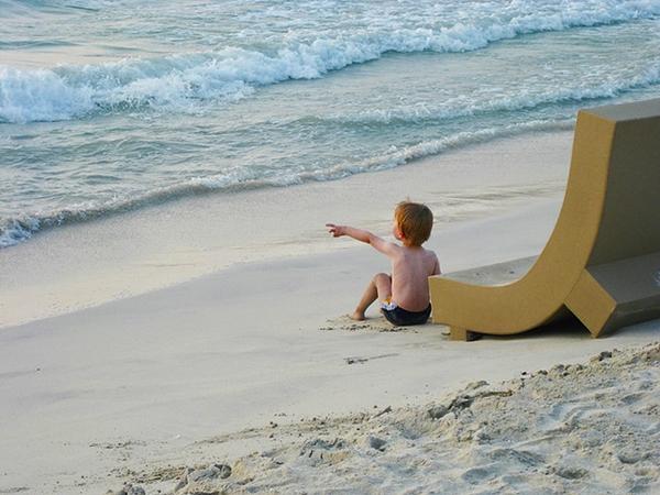 Boy on Jumeirah Beach, Dubai