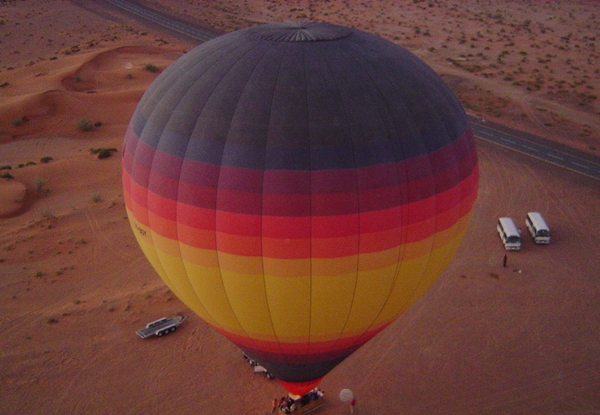 Hot air balloon ride, Dubai