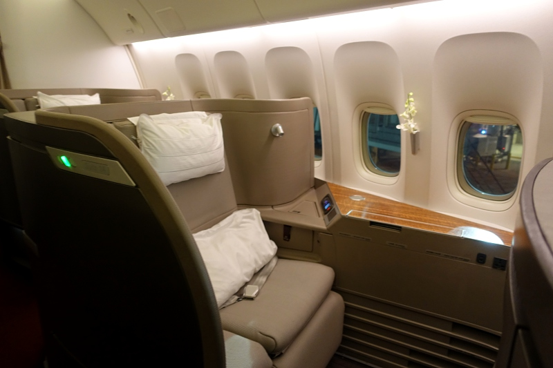 Cathay Pacific First Class Seat 1A Review
