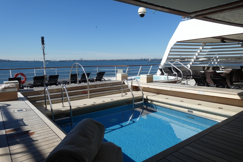 Seabourn Quest Aft Deck Pool and Jacuzzis