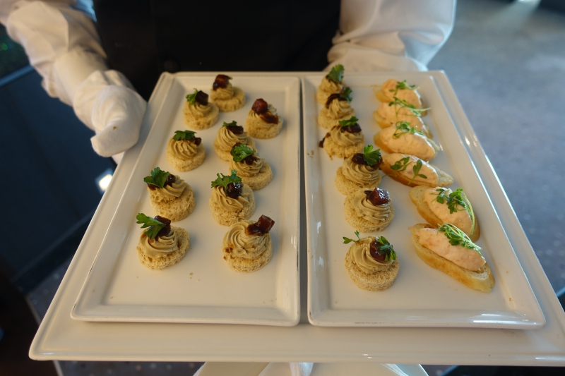 Foie Gras and Shrimp Appetizers, Seabourn Quest