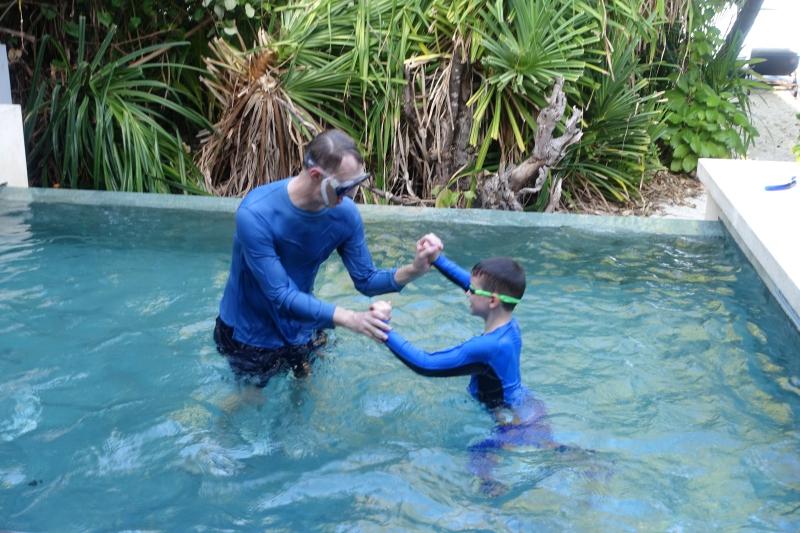 Wrestling in the Pool, Park Pool Villa, Park Hyatt Maldives Review