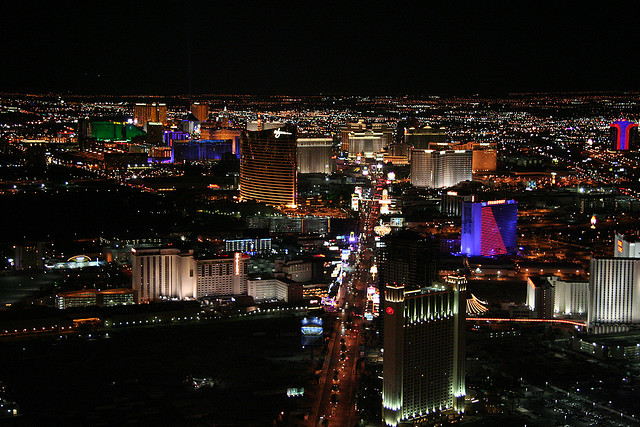The lights of Las Vegas