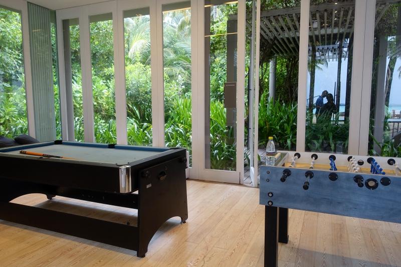 Pool Table and Foosball, Le Paddock, Cheval Blanc Randheli