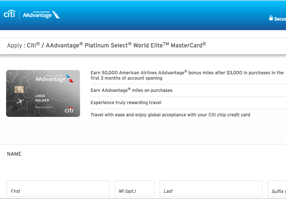 50K Citi AAdvantage Platinum Select Without 24 Month Language