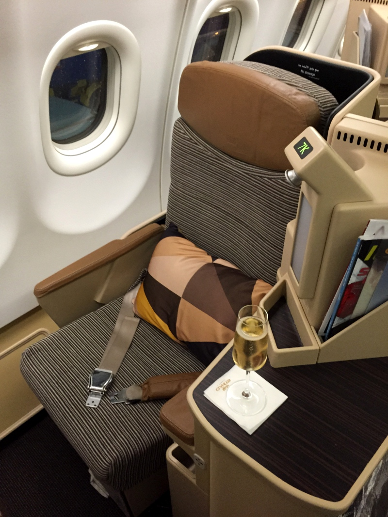 Etihad Business Class Seat Review, A330-200