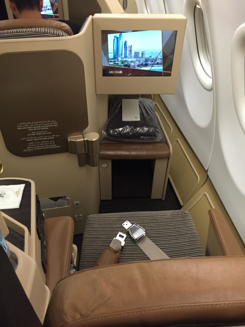 Etihad Business Class Seat 7K, A330-200