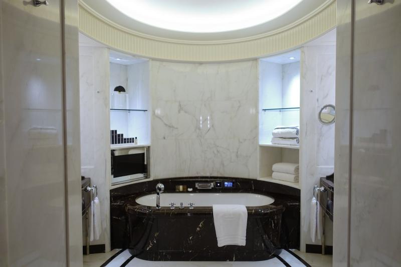 Marble Bathroom at The Peninsula Paris