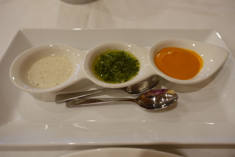 Trio Of Sauces Members Dining Room At The Met Review Nyc