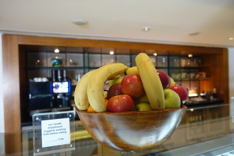 Fresh Fruit, British Airways First Class Lounge NYC JFK Review