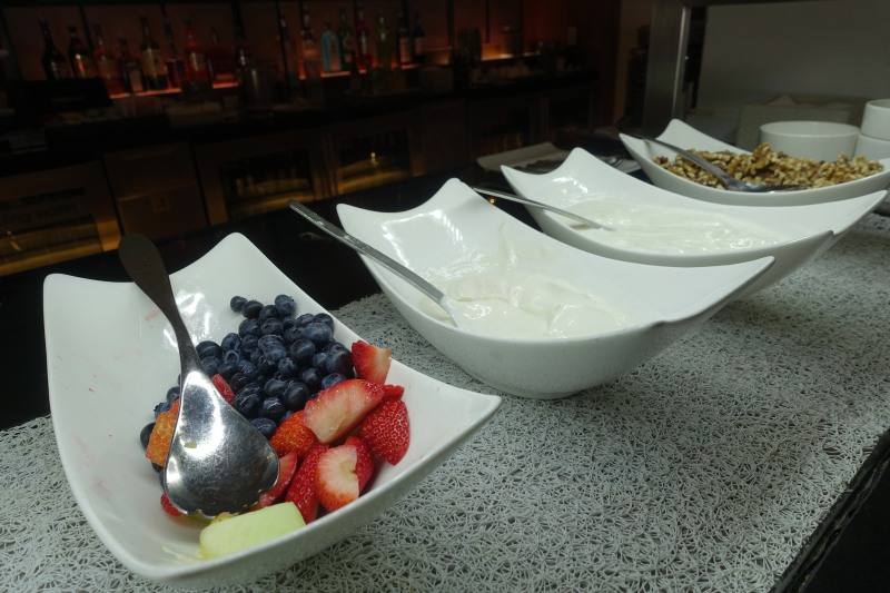 Yogurt and Berries, British Airways First Class Lounge JFK Review