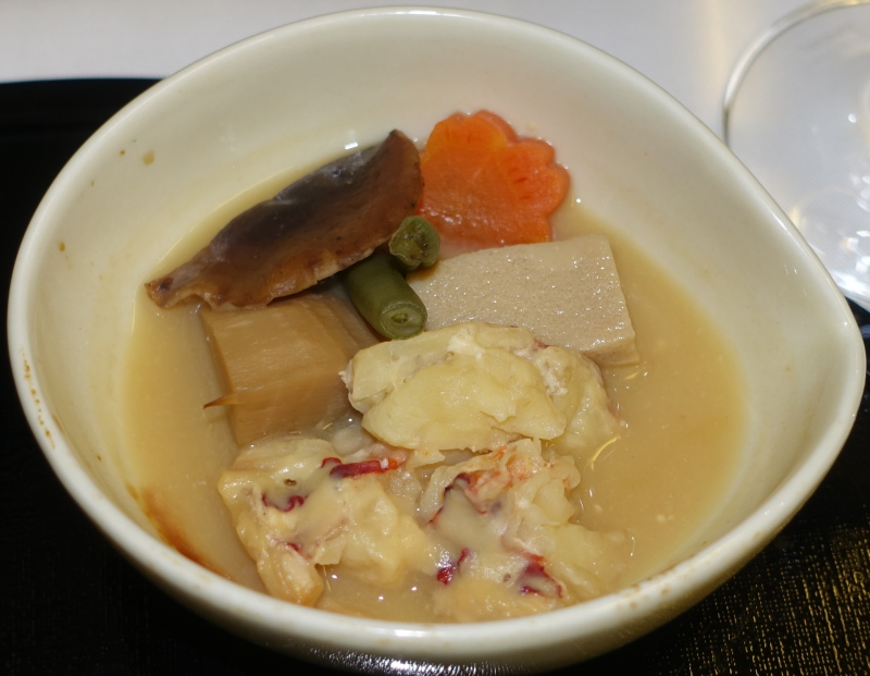 Lobster in White Miso, ANA First Class Review