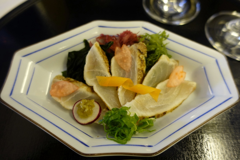 Sea Bream Sashimi, ANA First Class Review