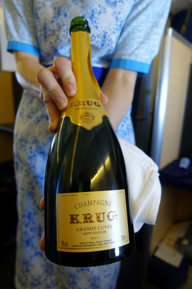 Krug Champagne, ANA First Class Review